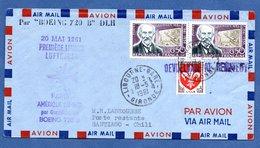 Enveloppe / De Libourne / Pour Santiago - Chili / Par Boeing 720 B   / 18-5-61 - Marcophilie (Lettres)