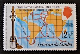 """CENTENAIRE DE LA VISITE DU H.M.S """"CHALLENGER"""" 1973 - NEUF ** - YT 184 - MI 184 - TIMBRE DU BLOC - Tristan Da Cunha"""