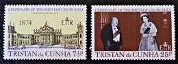 SIR WINSTON CHURCHILL1974 - NEUFS ** - YT 195/96 - MI 196/97 - Tristan Da Cunha