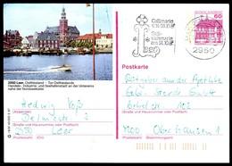 84816) BRD - P 138 - R6/91 - OO Gestempelt - 2950 Leer, Hafen Mit Rathaus - [7] West-Duitsland
