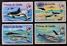 BALEINES 1975 - NEUFS ** - YT 201/04 - MI 202/05 - Tristan Da Cunha