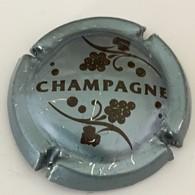166 - Capsule De Champagne - Générique 766 -champagne Et Grappe  Argent Bleuté Et Brun Foncé - Champagne