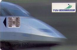 TARJETA TELEFONICA DE FRANCIA. 120 UNITS, TGV. TRENES. (032) - Trains