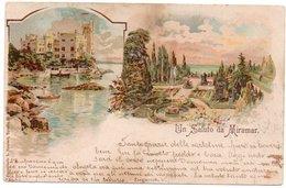 TRIESTE - UN SALUTO DA MIRAMAR /OLD COLUR LITHO - 1901 - Trieste