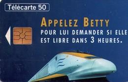 TARJETA TELEFONICA DE FRANCIA. EUROSTAR. TRENES. (034) - Trains