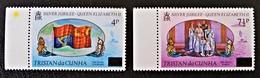 SURCHARGES 1977 - NEUFS ** - YT 219/20 - BORDS DE FEUILLES - Tristan Da Cunha