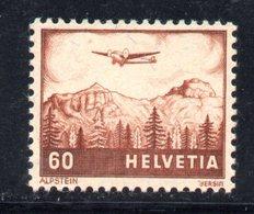 137/1500 - SVIZZERA 1941 , Posta Aerea   Unificato N. 30  *  Linguella - Nuovi