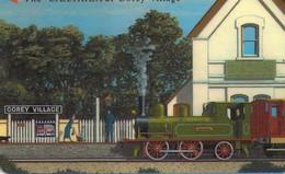 "TARJETA TELEFONICA DE JERSEY ISLANDS. 82JERD, THE ""CAESAREA"" AT GOREY VILLAGE. TRENES. (035) - Trains"