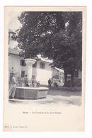 Jolie CPA Saint-Jean-de-Sixt (Haute-Savoie), Fontaine Et Gros-Tilleul - Sixt-Fer-à-Cheval