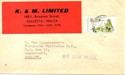 MALTE. N°505 De 1975 Sur Enveloppe Ayant Circulé. Année Internationale De La Femme. - Malta