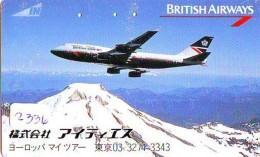 Télécarte  JAPON * 110-011  * BRITISH AIRWAYS (2336)  Airplane * Flugzeug AVION * AIRLINE * Phonecard JAPAN - Avions