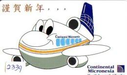 Télécarte  JAPON * 110-196001 * CONTINENTAL MICRONESIA (2339)  Airplane * Flugzeug AVION * AIRLINE * Phonecard JAPAN - Avions