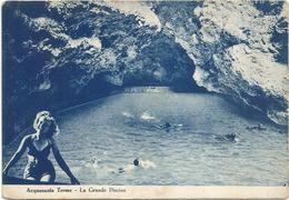 X4104 Acquasanta Terme (Ascoli Piceno) - La Grande Piscina - Ragazza Girl Femme Frau Chica Pin Up / Viaggiata 1955 - Italie