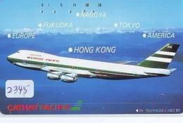 Télécarte  JAPON * 290-3159 * CATHAY PACIFIC  (2345) Airplane * Flugzeug AVION * AIRLINE * Phonecard JAPAN - Avions