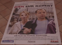 AFFICHE CINEMA ORIGINALE FILM RIEN SUR ROBERT LUCHINI KIMBERLAIN BONITZER PICCOLI TBE - Posters