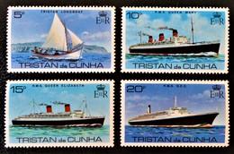 """VISITE DU R.M.S """"QUEEN ELIZABETH II"""" 1979 - NEUFS **- YT 256/59 - MI 257/60 - Tristan Da Cunha"""