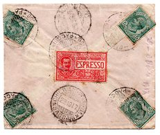16.6.17  Espresso - Annullo  Ambulante Cagliari - Golfo Aranci - Pacchi  +  Chilivani  Ferrovia - Sassari - 1900-44 Vittorio Emanuele III