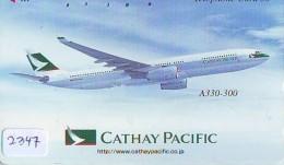 Télécarte  JAPON * 110-016 * CATHAY PACIFIC  (2347) Airplane * Flugzeug AVION * AIRLINE * Phonecard JAPAN - Avions