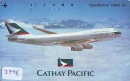 Télécarte  JAPON * CATHAY PACIFIC  (2348) Airplane * Flugzeug AVION * AIRLINE * Phonecard JAPAN - Avions