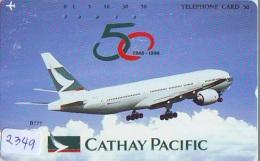 Télécarte  JAPON * CATHAY PACIFIC  (2349) Airplane * Flugzeug AVION * AIRLINE * Phonecard JAPAN - Avions