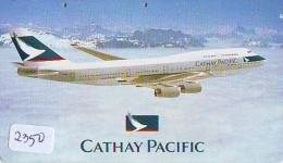 Télécarte  JAPON * CATHAY PACIFIC  (2350) Airplane * Flugzeug AVION * AIRLINE * Phonecard JAPAN - Avions