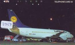 Télécarte  JAPON * LUFTHANSA  (2353) Airplane * Flugzeug AVION * AIRLINE * Phonecard JAPAN - Avions
