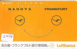 Télécarte  JAPON * LUFTHANSA  (2354) Airplane * Flugzeug AVION * AIRLINE * Phonecard JAPAN - Avions