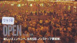 Télécarte  JAPON * LUFTHANSA  (2356) Airplane * Flugzeug AVION * AIRLINE * Phonecard JAPAN - Avions