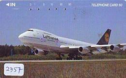 Télécarte  JAPON * LUFTHANSA  (2357) Airplane * Flugzeug AVION * AIRLINE * Phonecard JAPAN - Avions