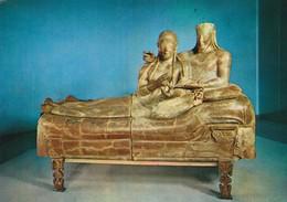 ROMA  MUSEO NAZIONALE DI VILLA GIULIA SARCOFAGO DEGLI SPOSI CERVETERI NON  VIAGGIATA - Musées
