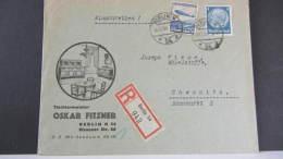 DR 33-45: E-Fern-Brief Mit 50 Pf  LZ 129 Aus Berlin 54 (942) Nach Chemnitz Vom 14.12.36  Knr: 606 Ua - Deutschland