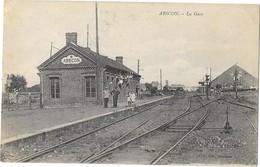 ABSCON (59) Vue Intérieure De La Gare - Other Municipalities