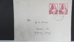 BRD: Ausl-Brief Mit 20 Pf Paul Gerhardt Im Waager.Paar, Bedarfspost In Die Schweiz Vom 5.6.57 Knr: 253 (2) - [7] West-Duitsland