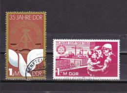 DDR - 1984 - MI : 2896 + 2902 - OBLITERE - VOIR DESCRIPTIF - - DDR