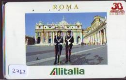 Télécarte  JAPON * ALITALIA * ROMA  (2362) Airplane * Flugzeug AVION * AIRLINE * Phonecard JAPAN - Avions