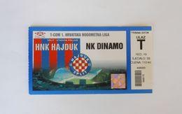 HAJDUK : DINAMO ZAGREB - Croatia Premier League Football Match Ticket * Soccer Foot Billet Fussball Calcio Futbol - Match Tickets
