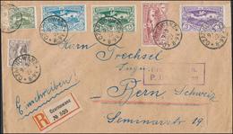Abstimmungsgebiet Oberschlesien R-Umschlag Mischfrankatur 1922 CZARNOWANZ über München Nach Bern (44_1907) - Settori Di Coordinazione