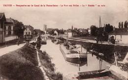 [10] Aube > Troyes Perspective Sur Le Canal Le Port Aux Breles - Troyes