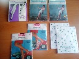 1601: Erotica 7 Stück Diverse Damenstrümpfe Ca. 1960, Originalverpackt - Bas
