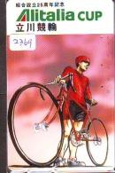 Télécarte  JAPON * ALITALIA * BICYCLETTE CYCLISME  (2369)  * AVION * AIRLINE * Phonecard JAPAN - Avions
