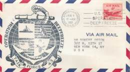 Lettre - Station Antarctica Byrd 1957 - U.S.N. - Operation Task Force 42 Deepfreeze I - Stamps