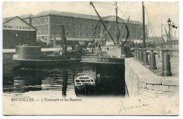 CPA - Carte Postale - Belgique - Bruxelles - L'entrepôt Et Les Bassins - 1904  ( SV5416 ) - Maritiem