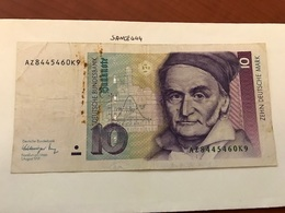 Germany 10 Mark Banknote 1991 - [ 7] 1949-… : RFA - Rep. Fed. Tedesca