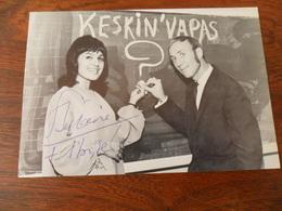 ANCIENNE CP PUB EMISSION KESKINVAPAS / RTB / MARION  & S.STEEMAN /DEDICASSEE - Autographes