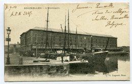 CPA - Carte Postale - Belgique - Bruxelles - L'entrepôt - 1904  ( SV5417 ) - Maritiem