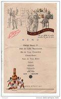 47 - MONFLANQUIN LE 26 FÉVRIER 1950. MENU . PUBLICITÉ CAZANOVE - Ref. N°10078 - - Menus