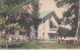 Rangoon Burma (Myanmar), Franc Chapel And School Children, American Baptist Missionary Union, C1900s Vintage Postcard - Myanmar (Burma)