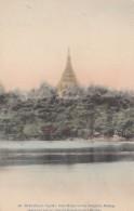 Rangoon Burma Myanmar, Shwe Dagon Pagoda Royal Lakes, American Baptist Foreign Mission Society, C1900s Vintage Postcard - Myanmar (Burma)