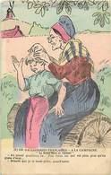 Themes Div-ref X685- Folklore-paysans -paysannerie -illustrateurs -dessin Illustrateur - Patois - Les Poux - - Folklore