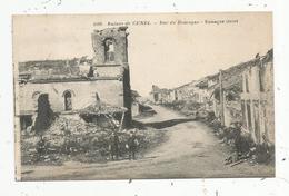 Cp, 55 , Ruines De CUNEL , Rue De ROMAGNE ,voyagée 1929 - Francia